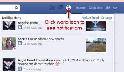 Access Facebook Notifications